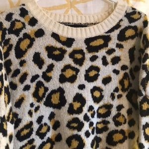 Forever21 animal print slouchy sweater